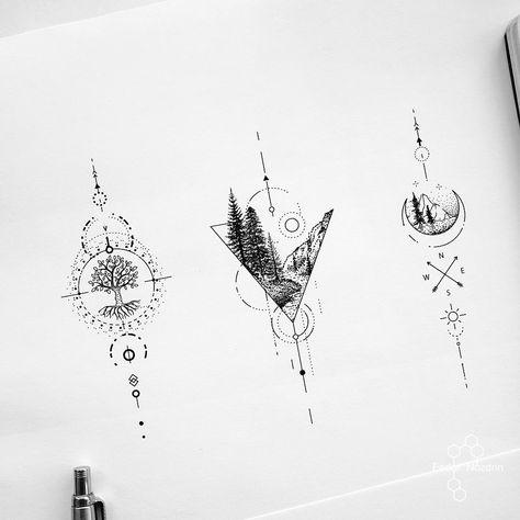Available designs . . . . #geometrictattoodesign #geometrictattoo #foresttattoo #treetattoo #dotwork #simpletattoo #singleline #balitattoo…