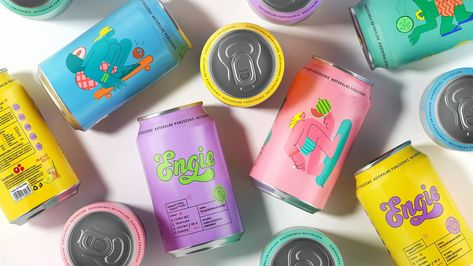 """Branding for energy drink """"Engie"""" by PG Reforming"""