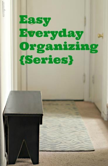 Easy Everyday Organizing Series at Organize and Decorate Everything. Find out how to get started to get get to the point of organization you want.