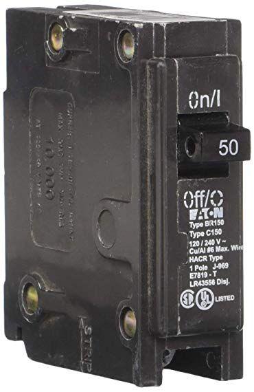 Eaton Corporation Br150 Type Br Miniature Circuit Breaker 120 240 Vac 50 A 1 P 42 Ka Review Breakers Eaton Corporation Circuit