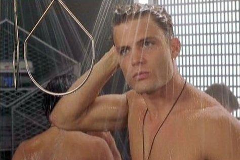 Casper Van Dien shower   Starship troopers, Starship, Acne