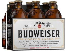Budweiser Reserve Jim Beam Copper Lager 6 Pack 12 Oz Bottle Jim