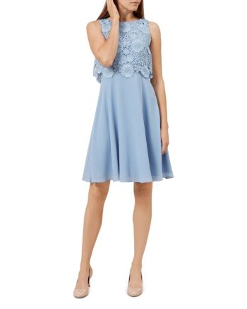 Hobbs London Margot Dress Chalk Blue | Hobbs dresses