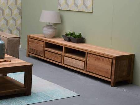 11 idees de meuble tv bois massif