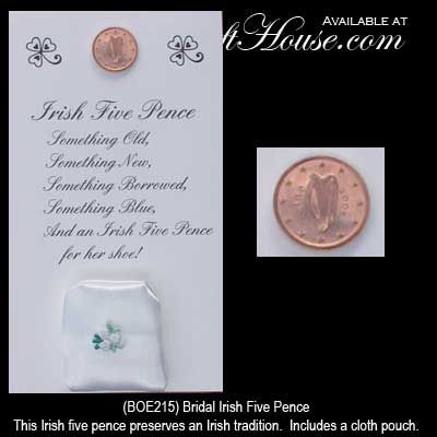 Bridal Irish Five Pence A Gift For The Irish Bride Irish Wedding Traditions Irish Wedding Irish Traditions