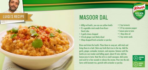 Luigi's Masoor Dal makes a great meat-free Monday dinner!