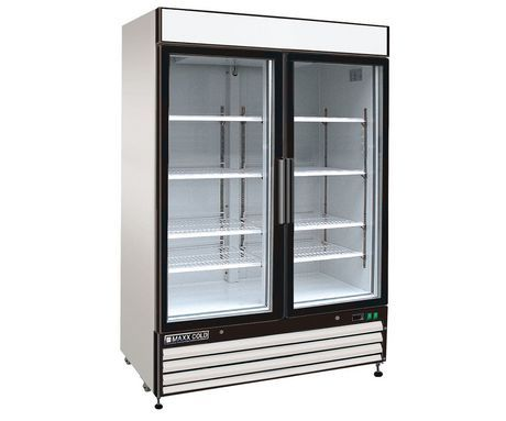 Maxx Cold Maxx Cold X Series 54 48 Cu Ft Reach In Refrigerator White Commercial Refrigerators Glass Door Double Sliding Doors