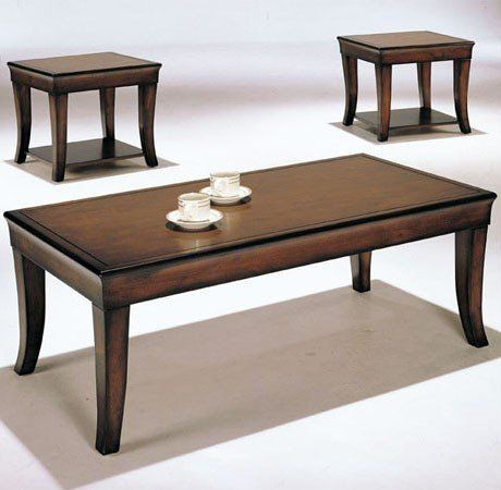 3 Pc Wooden Coffee Table Set By Acme