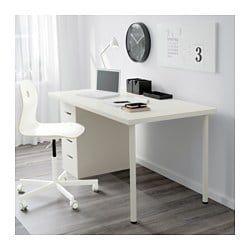 Linnmon Alex Table White 59x29 1 2 Drawer Unit Home Office Desks Home Office Decor