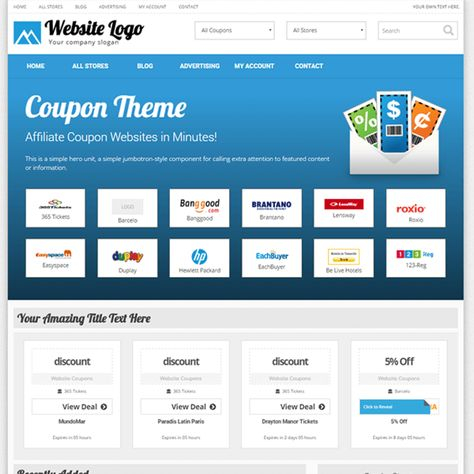 Pin By Tee Sung On Best Wordpress Theme Coupons Website Logo