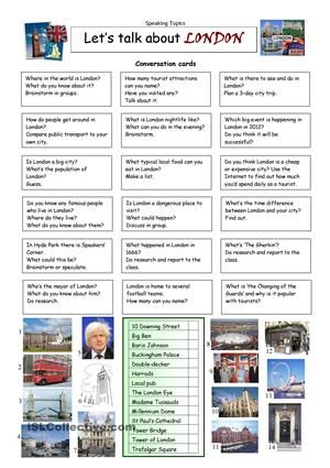 This worksheet contains 18 conversation cards and a matching exercise. The cards can be cut out if desired and be used as conversation questions. Can be used with both young learners and adults (pre-int to upper-intermediate). Suitable for teens, university students and adults. I usually cut up the questions and put them in the middle of the table. Students take a question in turn and read it aloud, so the others need to listen carefully and the ´reader´ needs to pronounce well. Then I let…
