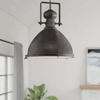 Brett 1 Light Single Dome Pendant Ceiling Fan With Light Ceiling Fan Light Kit Light