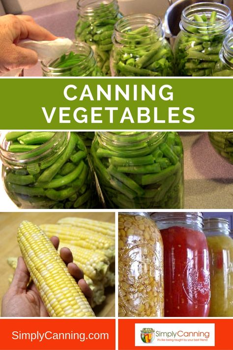 Learn about safe home canning vegetables at Simply Canning…
