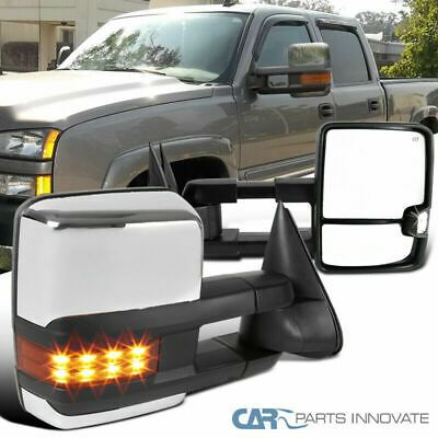 Sponsored Ebay 03 06 Silverado Sierra Facelift Style Power Heated Led Signal Towing Mirrors L R Chevy Silverado Accessories Towing Mirrors Silverado