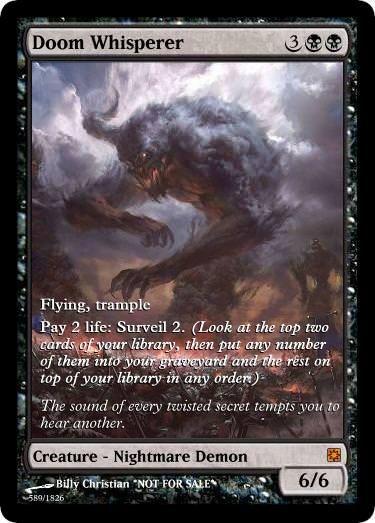 Magic the Gathering MTG Doom Whisperer Mythic Mint