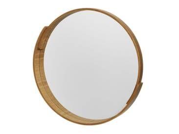 Vunda Plywood Runder Spiegel 50 Cm Schichtholz In Natur Flur