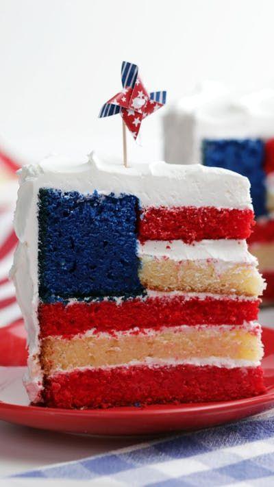 Flag Cake Recipe With Images Flag Cake Flag Cake Recipe Cake Recipes