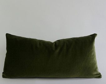 Olive Green Decorative Bolster Pillow