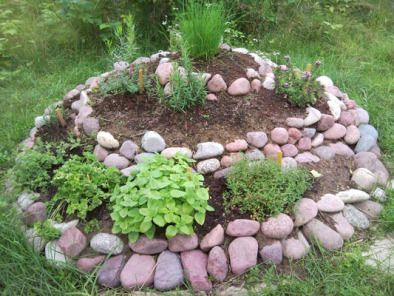 Ziggourat Keyhole Spirale Et Pyramide Au Jardin Landscaping With Rocks Rock Garden Landscaping River Rock Landscaping