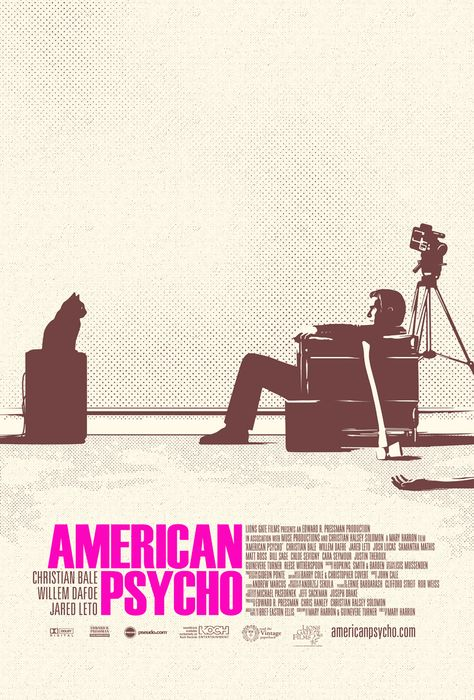 Alternative movie poster design for American Psycho by www.keyart.ca #graphicdesign #design #movie #film #movieposter #poster #alternativemovieposter #americanpsycho #christianbale