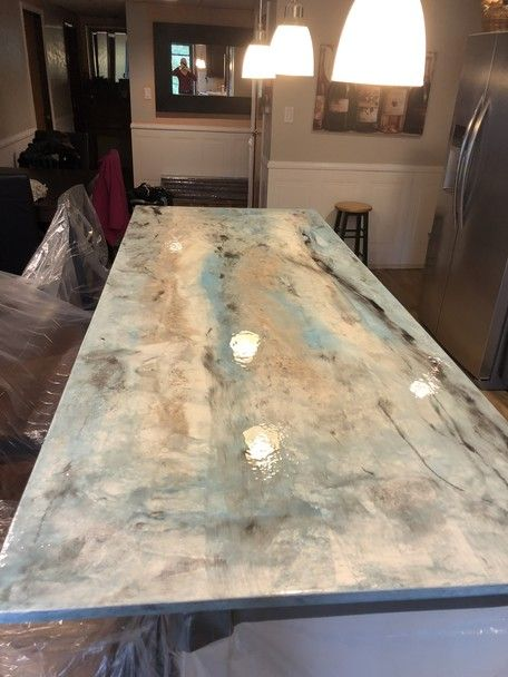 Metallic Epoxy Countertop Kit Concrete Kitchen Diy Countertops