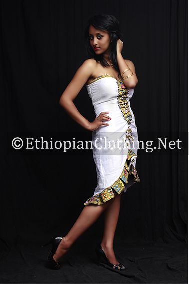 Ethiopian Fashion Dress Hand woven saba fabric with handmade pattern and hand embroidery. Its NEW DESIGN and ON SALE, be the first to wear it