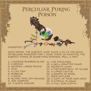 6  Perculiar Puking poison - this rainbow coloured poison is