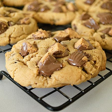 reeses peanut butter cookies :)  making these for a friend's road trip to texas. gotta show some southern hospitality!