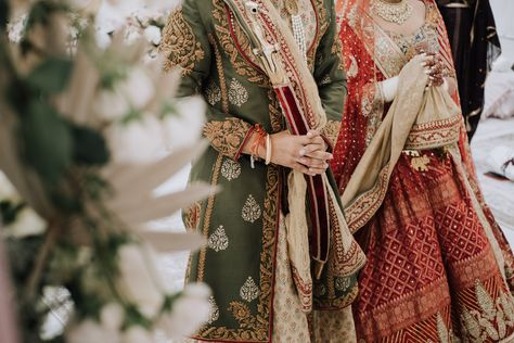 Detail shot of traditional Indian wedding attire. Photograph by Catch Motion Photography, VA #wedding #photography #sikh #sikhwedding #indianwedding #photography #vaphotographers #covidwedding #backyardwedding