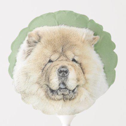 Chow Chow Painting Cute Original Dog Art Balloon Zazzle Com In