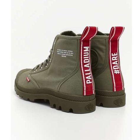 Damskie Palladium Palladium Pampa Hi Dare 325 Olive Night Boots Shoes Hiking Boots
