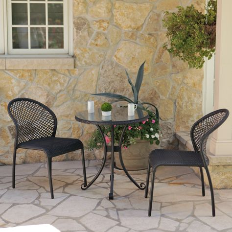 Have To Have It Rioja Collection All Weather Wicker Bistro Set