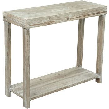 Whitewash Rectangular Accent Table Large In 2020 Narrow Table