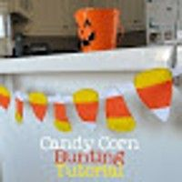 Candy Corn Bunting From Felt - Great Tutorial