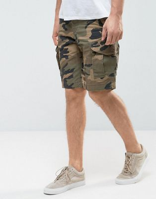a2592bc5794ed Jack & Jones Intelligence Cargo Shorts In Loose Fit In Camo | Shorts ...