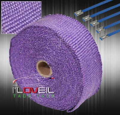 """360/"""" 30Ft Down Header Test Pipe Heat Wrap Shield Cover Insulation Reduction"""