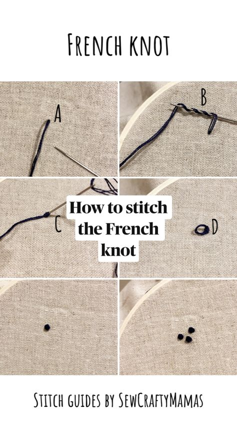 How to stitch the French knot