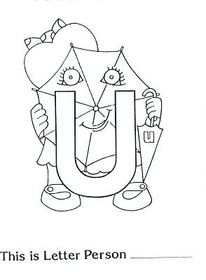 Letter U People Coloring Pages Letter People Personalized Letters