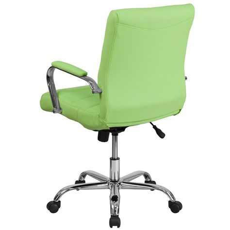 Green Contemporary Swivel Office Chair