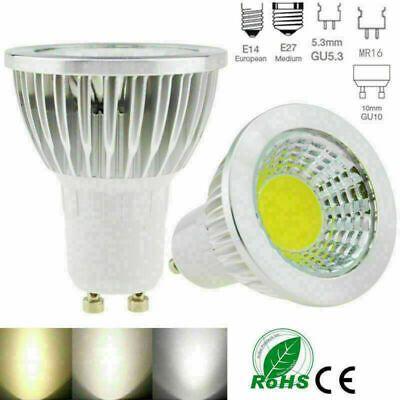 Dimmable Gu10 Mr16 6w 9w 12w 15w Cob Led Light Bulb Spotlight Lamp Led Bulb Wj Ebay In 2020 Spotlight Lamp Led Bulb Led Light Bulb