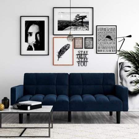 Home Blue Rooms Furniture Sleeper Sofa