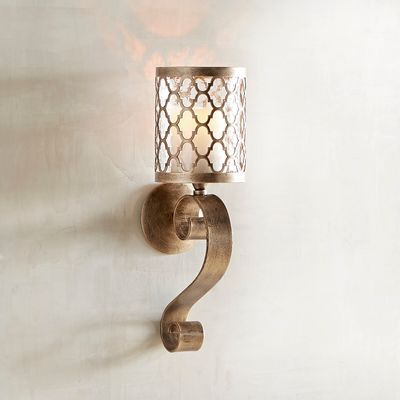 Quatrefoil Scroll Small Candle Wall Sconce Candle Wall Sconces