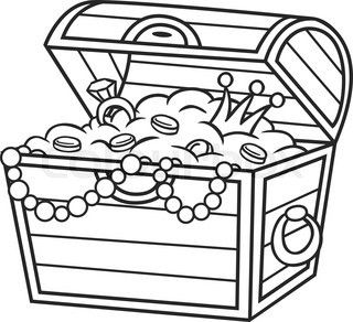 320x292 Cartoon Treasure Chest Vector Clip Art Illustration With