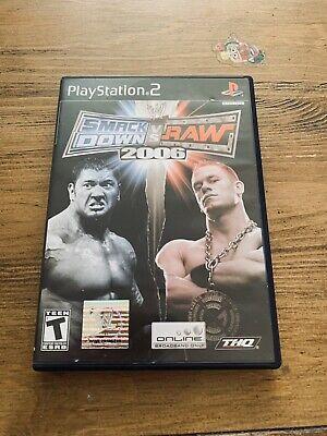 WWE SmackDown vs. Raw 2006 (Sony PlayStation 2, 2005) for sale online   eBay