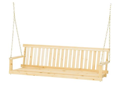 Terrific Wooden Porch Swing Hanging Bench Seat Cypress Wood Outdoor Alphanode Cool Chair Designs And Ideas Alphanodeonline