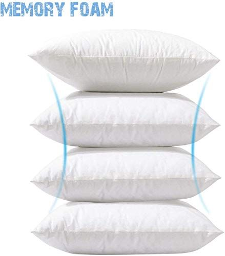 Phantoscope 4 Packs Throw Pillow Inserts Hypoallergenic Square