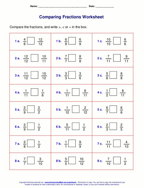 FREE Fraction Worksheet Generator! Great for comparing fractions ...