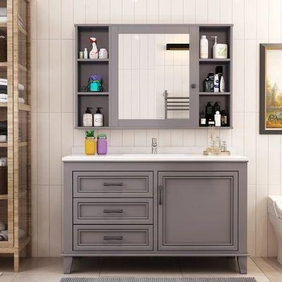 17++ Bathroom cabinet and mirror set custom