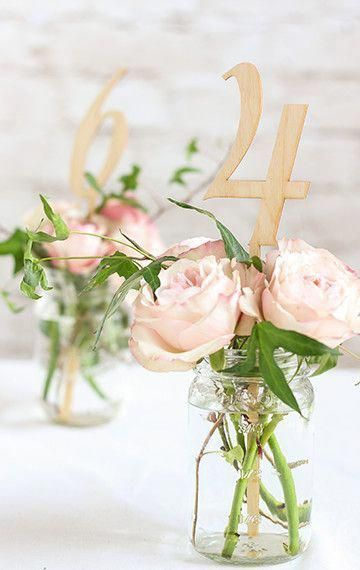 These wood table numbers are perfect for a rustic travel themed wedding #weddingthemes