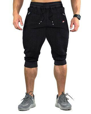 Men 3//4 Gym Workout Jogging Elastic Sport Shorts Pants with Pockets Mens Capri Pants M, Deep Gray Casual Breathable Below Knee Sportswear